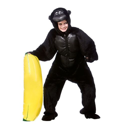 Adult Deluxe Gorilla Costume for Animals Bugs Creatures Fancy Dress Mens Ladies
